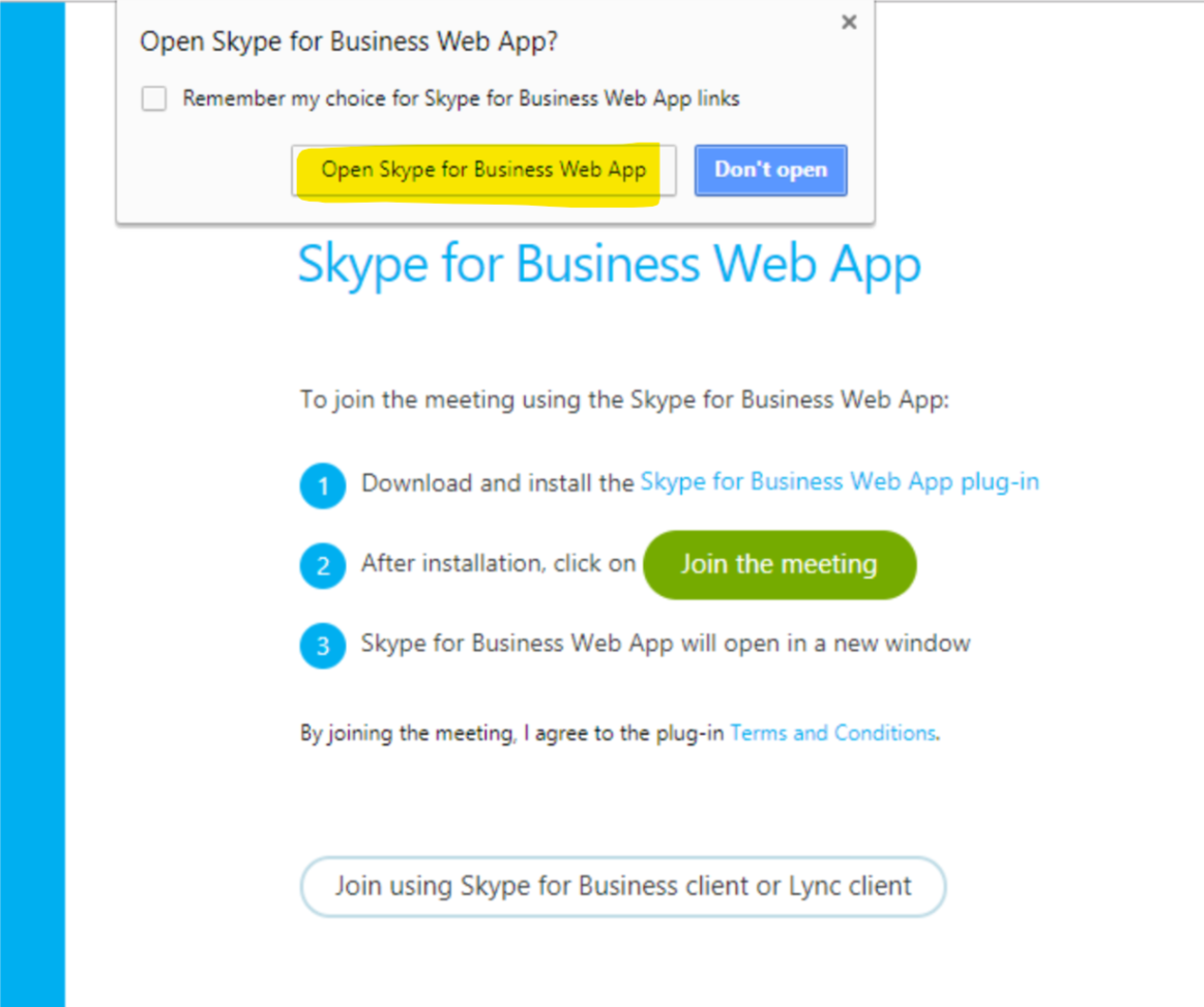 skype for business app