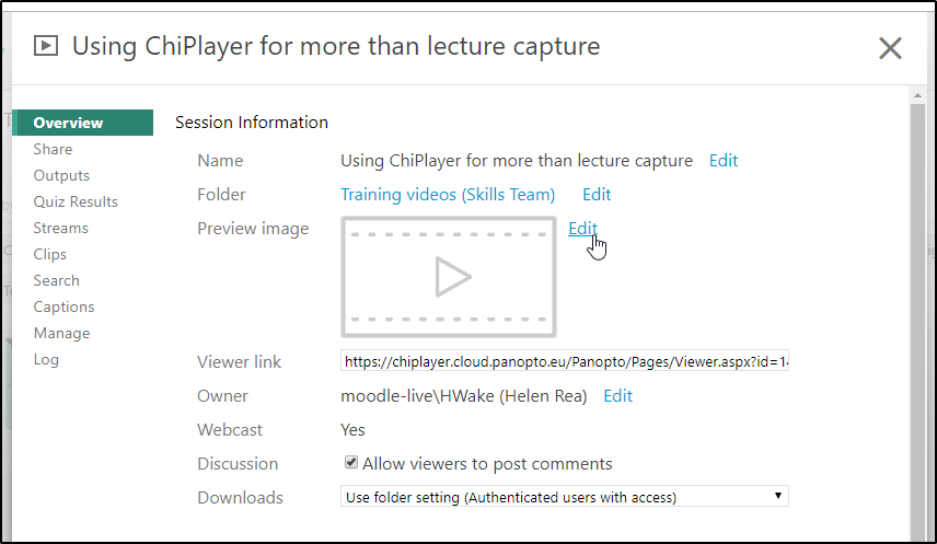 Setting up a webcast link in ChiPlayer | Support and
