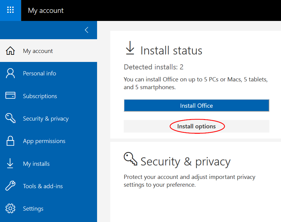 install office 365 proplus download