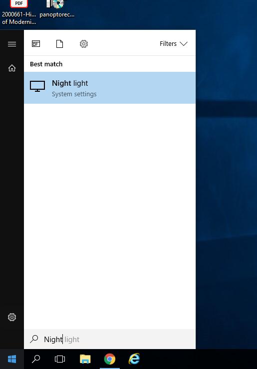what is windows night light
