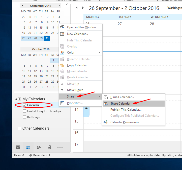 Outlook Calendar Sharing.Sharing Your Calendar Outlook Support And Information Zone