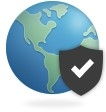 VPN Icon with offsite connection